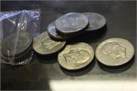 Lot of 10 Eisenhower Dollars