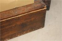 Antique Wooden Chest,34x19x19 tall
