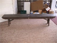 "WOODEN BENCH 92"" LONG 14"" WIDE"