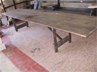 """12' X 35"""" FOLDING WOODEN TABLE,"""