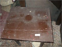 """SMALL WOODEN TABLE 28"""" X 24'' X 29"""""""