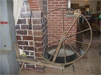 LARGE SPINNING WHEEL , WHEEL MEASURES 48,