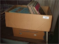 2 BOXES OF 33 RECORDS