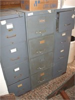 3 - 4 DRAWER FILING CABINETS (ONE IS LOCKED)