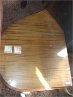 MAHOGANY TABLE W/ GLASS TOP (LOW TO THE GROUND)