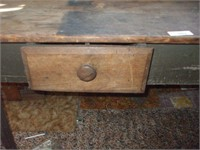 2 BOARD TOP WOODEN WORK BENCH W/ 2 DRAWERS