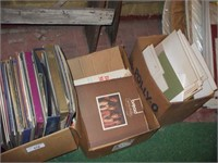 5 BOXES OF 33 AND 78 RECORDS