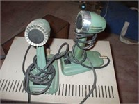 COLLECTION OF RADIOS, MICROPHONES, RECORD PLAYER,