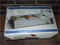 TRIPLE BUFFET SERVER, NEW IN BOX