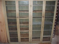 LARGE 4 GLASS DOOR CABINET 76'' TALL X 75'' WIDE X