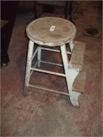 """TWO STEP STOOL W/ WHITE PAINT 24"""""""
