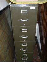 METAL FILING CABINET W/ A NON-USABLE DRAWER