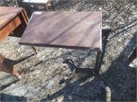 SMALL CAST IRON CLAW FOOT DRAFTING TABLE