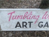 TUMBLING WATERS ART GALLERY SIGN