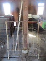 METAL BED FRAME W/ RAILS