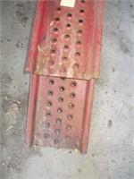 RED METAL CAR RAMPS