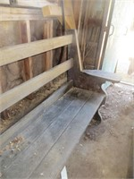 13 FT. WOODEN BENCH W/ BACK REST