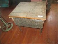WOODEN CENTENNIAL TAILOR'S TABLE, PATENT 1876