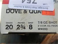 3/4 FULL BOX OF WINCHESTER 20 GAUGE BIRD SHOT