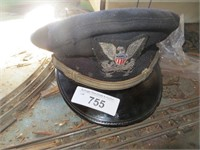MILITARY DRESS CAP (HAS BEEN STORED IN A GARAGE)