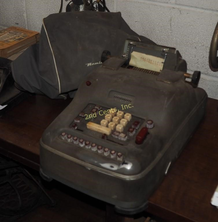 Vintage Remington Rand 10 Key Adding Machine | 2nd Cents Inc