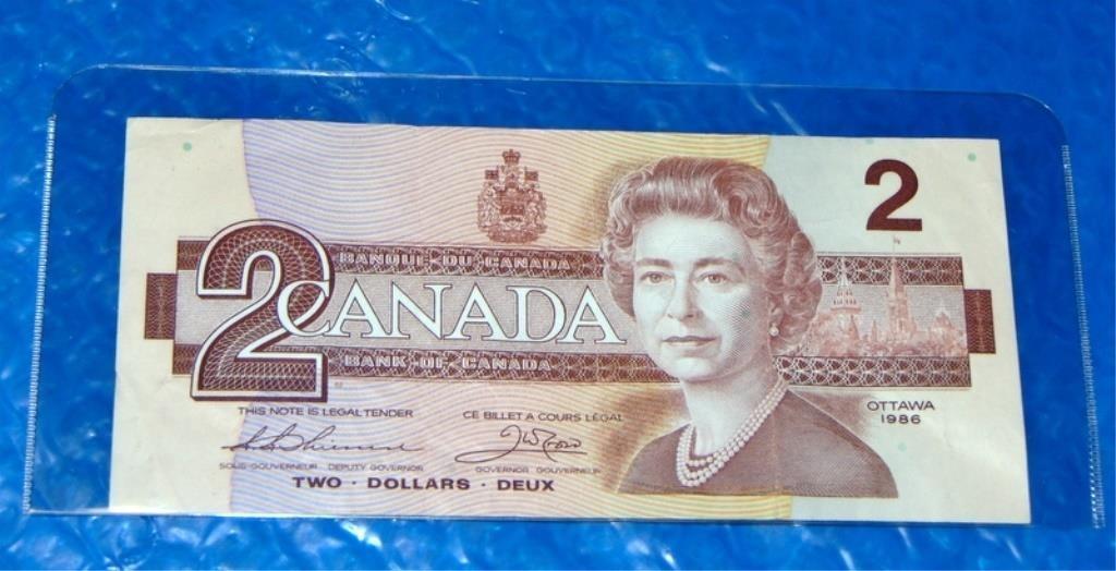 Vintage Canadian 2 Dollar Bill Lot # B4   A2Z Auctions