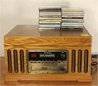 Detrola AM/FM/Record/CD/Cassette Player and CDs