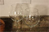 Longaberger Basket and Wine Glasses