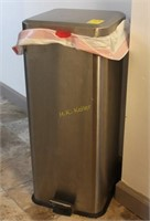 Brushed Stainless Trash Can