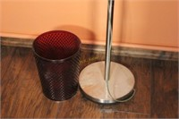 Floor Lamp and Trash Can