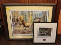 Duck and Elk Framed Signed and Numbered Prints