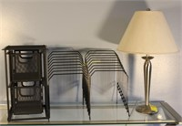Metal Base Lamp with Organizers