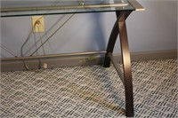 Glass Top 2 Tiered Desk