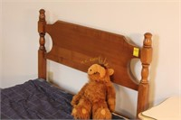Single Bed Frame with Mattress and Bedding