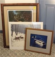 Elk, Deer, and Duck Prints
