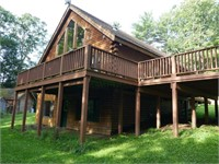 Online Only -Selling Log Cabin Home on 14 Acres to Settle Es