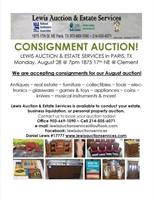 Lewis Auction Services - August Consignment Auction