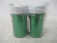 """""""As Is"""" Lot of (2) Sulyn Kelly Green Glitter Jar,"""