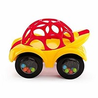 Oball 81510 Rattle and Roll Toy Car, Yellow/Red