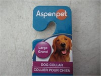 Aspen Pet Dog Collar Large 1in x 16-26in Blue
