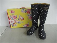 Joules Women's Welly Print Rain Boot French Navy