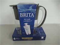 Brita Space Saver Water Filter Pitcher with 1