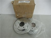 Pr Power Stop Cross Drilled/Slotted Front Rotors