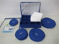"""""""As Is"""" Hagerty 19771 China Storage Set of 5, Blue"""