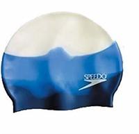Speedo Silicone Composite Swim Cap, Blue