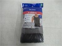 Gildan Men's XL A-Shirts 5 Pack, Grey/Black
