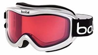Bolle Mojo Goggles, Shiny White, Vermillon Lens