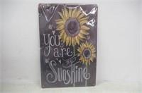 Sumik You are My Sunshine, Metal Tin Sign, Vintage