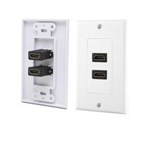 axGear 2-Port HDMI 1.4 Wall Face Plate Panel Cover