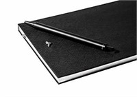 The Executive Grid Notebook: A Black Vegan Leather